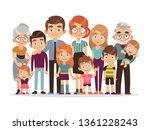 big family portrait. happy... | Shutterstock .eps vector #1361228243