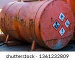 old rusty silo tank containing... | Shutterstock . vector #1361232809