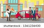 rental wedding car for... | Shutterstock .eps vector #1361236430