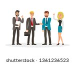 business development meeting... | Shutterstock .eps vector #1361236523
