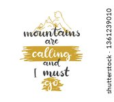lettering with phrase mountains ... | Shutterstock .eps vector #1361239010