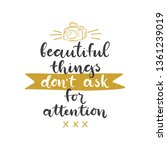 lettering with phrase beautiful ... | Shutterstock .eps vector #1361239019