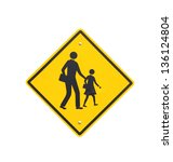 road sign warning of dangerous... | Shutterstock . vector #136124804