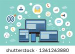 social network and connections... | Shutterstock .eps vector #1361263880