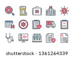 medical care related color line ... | Shutterstock .eps vector #1361264339
