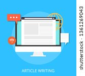 vector article writing design...   Shutterstock .eps vector #1361269043