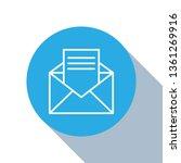 flat blue circle illustration...   Shutterstock .eps vector #1361269916