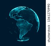 global network concept. world... | Shutterstock . vector #1361270990