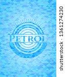 petrol sky blue emblem with... | Shutterstock .eps vector #1361274230