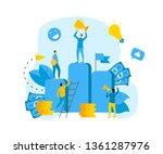 financial growth illustration.... | Shutterstock .eps vector #1361287976