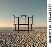 Artwork 'altar' On The Beach Of ...