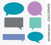 speech communication bubbles... | Shutterstock .eps vector #1361290409