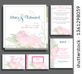 wedding invitation cards with... | Shutterstock .eps vector #1361298059
