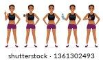 sport fitness woman in... | Shutterstock .eps vector #1361302493