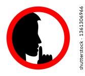 keep silence sign. be quiet.... | Shutterstock .eps vector #1361306966