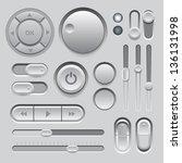 gray web ui elements design....
