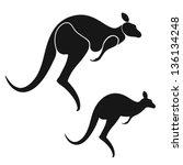 kangaroo. isolated animals on...   Shutterstock .eps vector #136134248