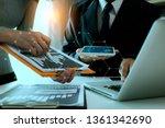 businessman and woman... | Shutterstock . vector #1361342690