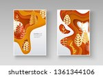 set of autumn banners with... | Shutterstock .eps vector #1361344106