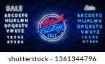 black friday sale neon sign... | Shutterstock .eps vector #1361344796
