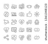 social media line icons. set  ... | Shutterstock .eps vector #1361348123