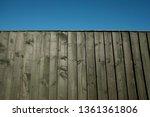wooden garden fence panels and... | Shutterstock . vector #1361361806