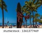 honolulu  hawaii   april 3 ... | Shutterstock . vector #1361377469