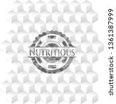 nutritious grey badge with... | Shutterstock .eps vector #1361387999