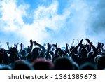 concert crowd at rock concert | Shutterstock . vector #1361389673