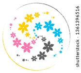 logo   cute vintage floral... | Shutterstock .eps vector #1361396516