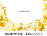 template for text framed with a ... | Shutterstock . vector #136140044