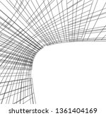 abstract 3d architecture | Shutterstock .eps vector #1361404169