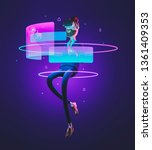 businessman billy using virtual ... | Shutterstock . vector #1361409353
