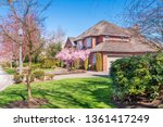 beautiful exterior of newly... | Shutterstock . vector #1361417249
