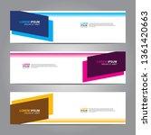 banner background.business... | Shutterstock .eps vector #1361420663