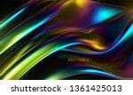 iridescent wavy surface. vector ... | Shutterstock .eps vector #1361425013