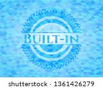 built in sky blue emblem with... | Shutterstock .eps vector #1361426279