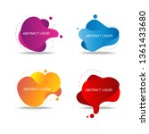 colorful fluid and wave badges... | Shutterstock .eps vector #1361433680