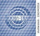 booby trap blue hexagon emblem. | Shutterstock .eps vector #1361443316