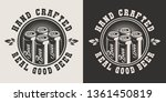 vintage brewery logotype with... | Shutterstock .eps vector #1361450819