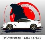 japanese car nissan gtr with... | Shutterstock .eps vector #1361457689