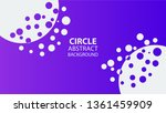 circle gradient abstract space... | Shutterstock .eps vector #1361459909