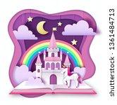 fantasy animal horse unicorn... | Shutterstock .eps vector #1361484713