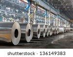 Row Of Rolls Of Aluminum Lie I...