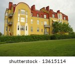 the yellow house with a red roof | Shutterstock . vector #13615114