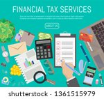 financial tax services banner... | Shutterstock .eps vector #1361515979
