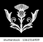 thistle flower  the symbol of... | Shutterstock .eps vector #1361516909