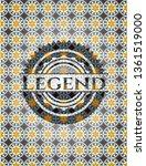legend arabesque style emblem.... | Shutterstock .eps vector #1361519000