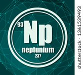 neptunium chemical element.... | Shutterstock .eps vector #1361539493