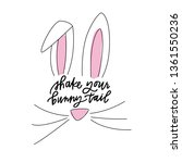 shake your bunny tail | Shutterstock .eps vector #1361550236